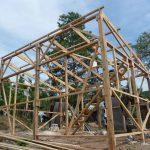 Foto: Holzgerüst für den Neubau eines Hauses